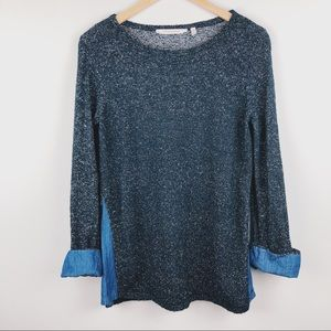 SOFT SURROUNDINGS Bexley Tunic Black Knit Pullover